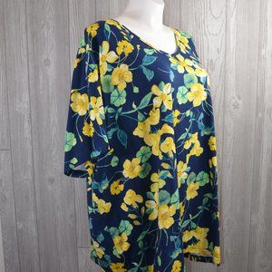NWT Catherines Tee BBW Floral PLUS SIZE 5X 6X